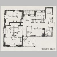 Baillie Scott, A Country Cottage, Ground plan, The International Yearbook of Decorative Art, 1918, p.4.jpg