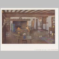 Baillie Scott, A Country Cottage, Living room, The International Yearbook of Decorative Art, 1918, p.7.jpg