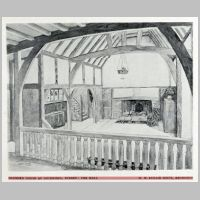 Baillie Scott, Proposed House at Guildford, The Hall, The Studio, vol.46, 1909, p.293.jpg