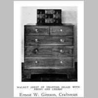 Gimson, Ernest, Walnut chest, Source Walter Shaw Sparrow (ed.), The Modern Home, p. 136.jpg