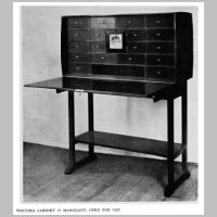 Gimson, Ernest, Writing cabinet, Source Walter Shaw Sparrow (ed.), The Modern Home, p.113.jpg