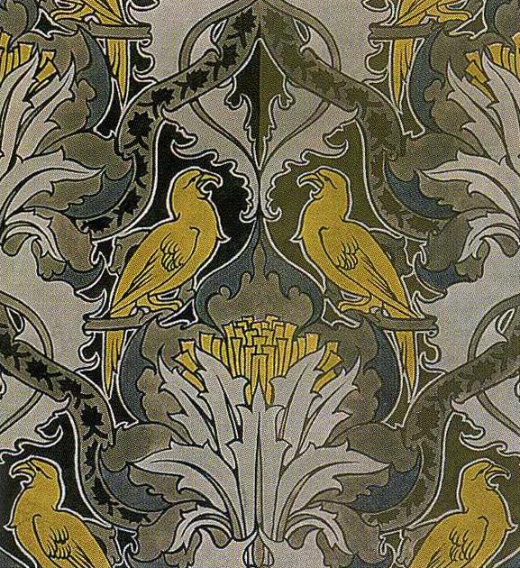 art nouveau wallpaper designs